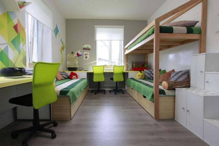 Дизайн детской комнаты для троих детей разного возраста: фото интерьера, варианты планировки
