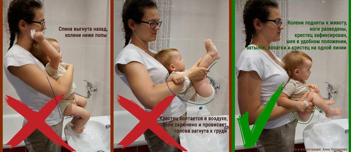 Как правильно нужно держать ребенка столбиком
