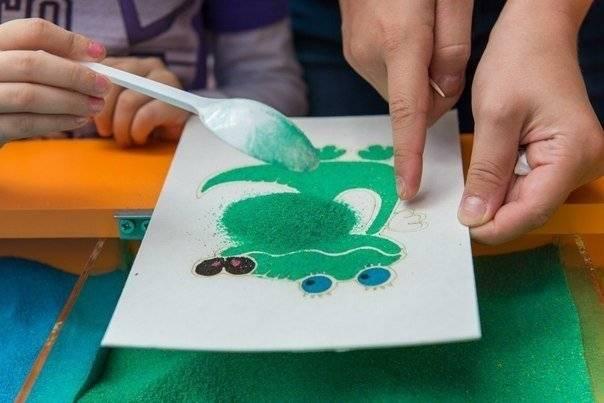 Мастер-класс «рисование песком на световом столе»