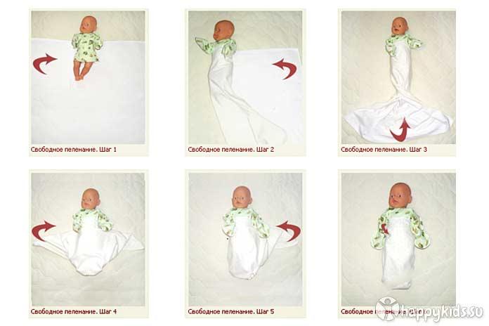 Как правильно пеленать ребенка: пошаговая фото инструкция