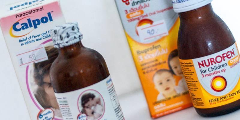 Лучшие жаропонижающие средства для детей разного возраста