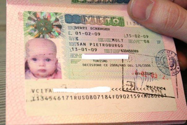 Шенгенская виза для детей: документы и получение