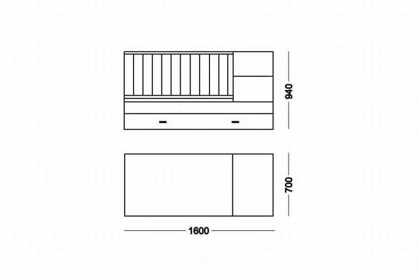 Стандартные размеры подростковых кроватей