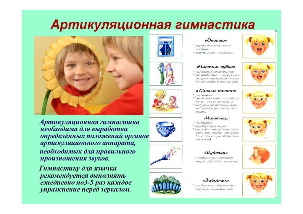 Артикуляционная гимнастика для детей  3 – 5 лет