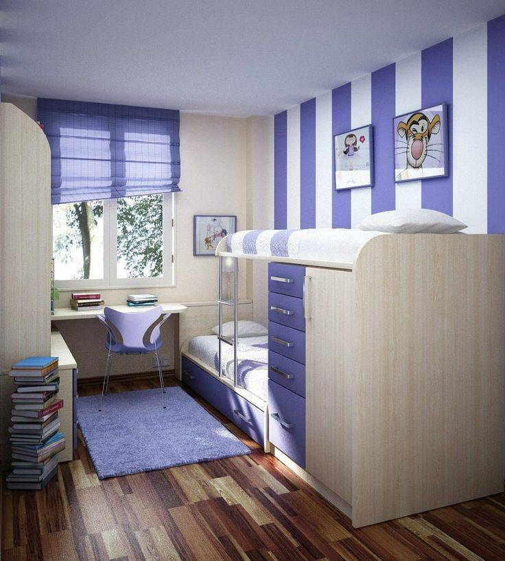 Интерьер маленькой детской: выбор цвета, стиля, отделки и мебели (70 фото)