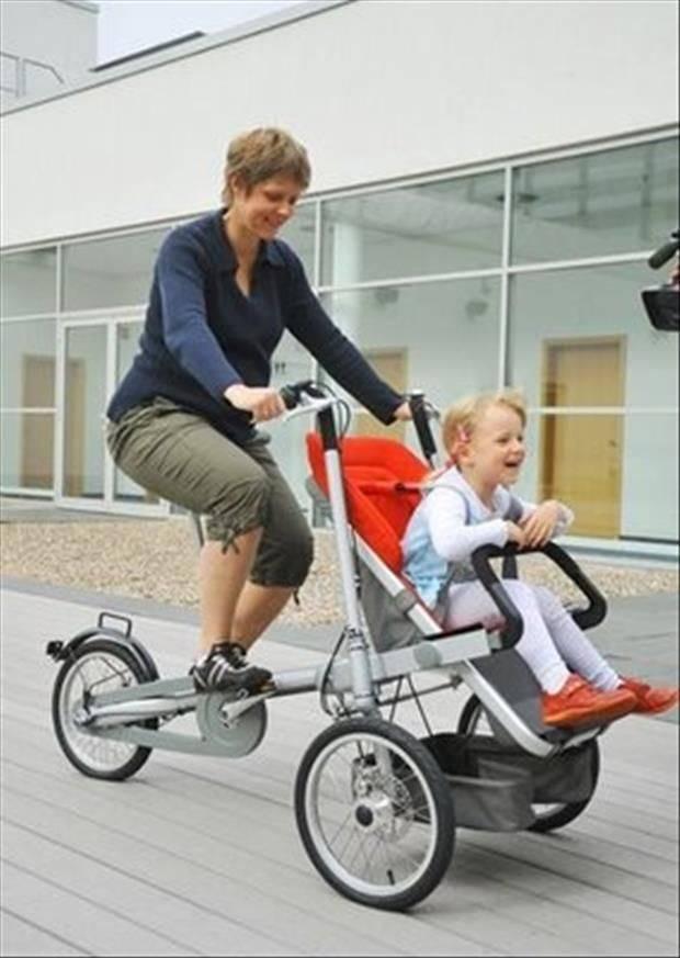 Комфортный детский велосипед коляска — удачное приобретение