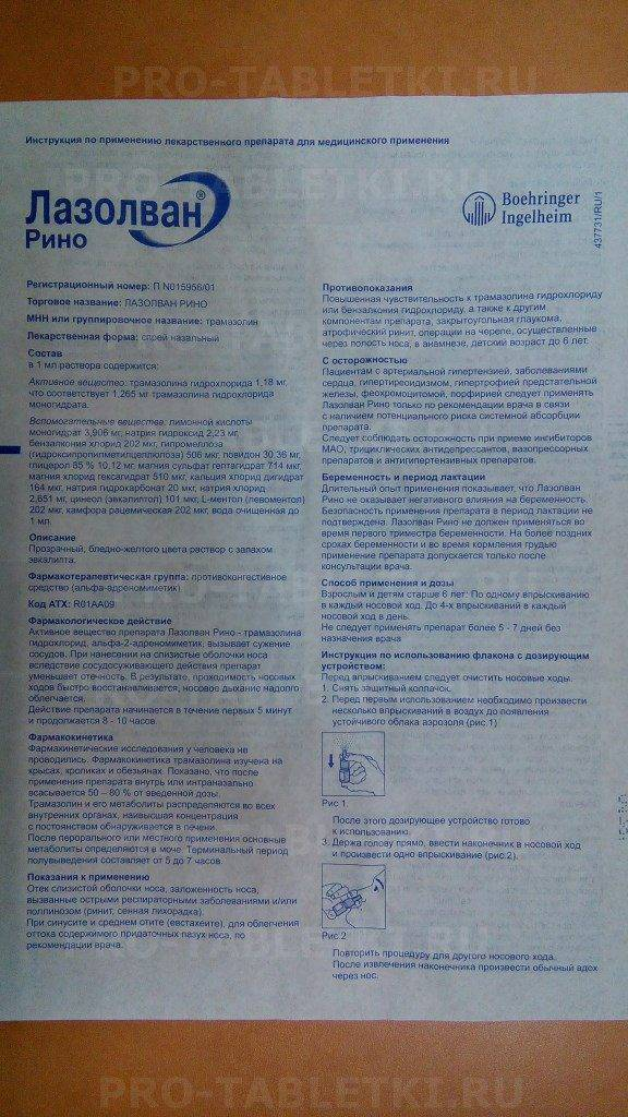 Лазолван® рино (lasolvan® rhino)