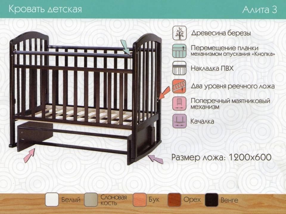 Размеры детского постельного белья в кроватку