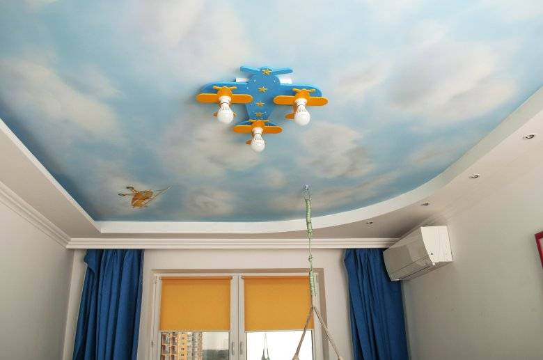 Потолок из гипсокартона в детской комнате (116 фото): подвесной гипсокартоновый потолок в спальне для мальчика или девочки