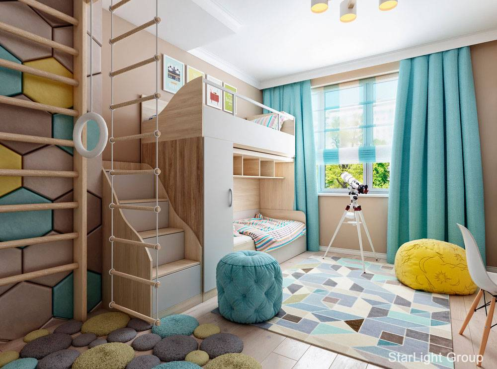 20 интерьеров детских комнат площадью 12 кв. метров