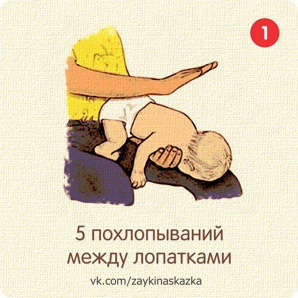 Ребенок подавился: что делать?