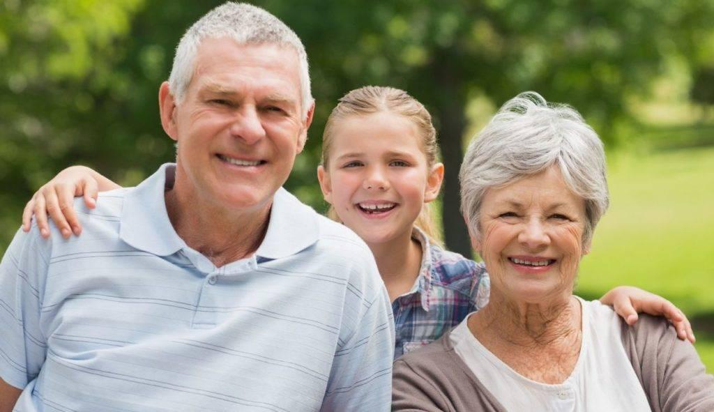 Дедушка и бабушка - grandparent