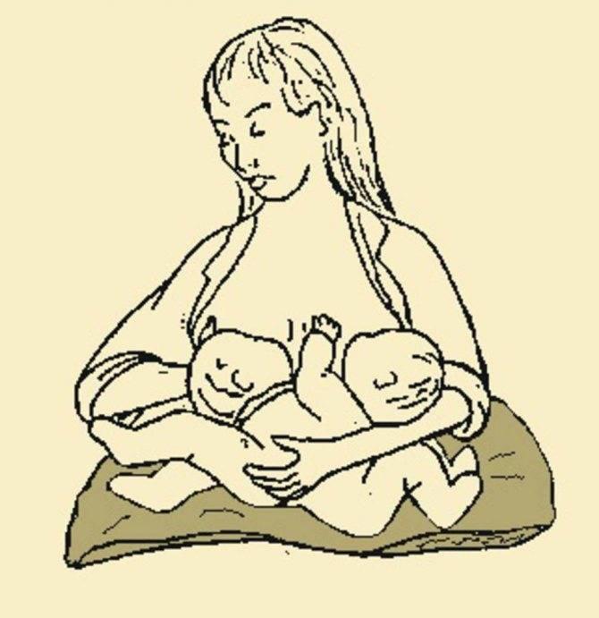 Как кормить двойню одновременно: фото и видео, позы для кормления грудью