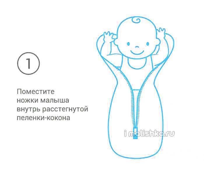 Пеленка на липучках: как надевать на новорожденных, как пользоваться детским конвертом для пеленания, отзывы