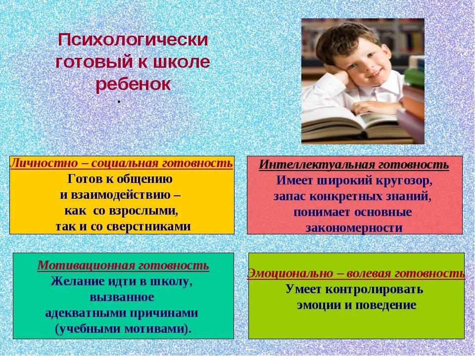 Личностная и интеллектуальная готовность к школьному обучению