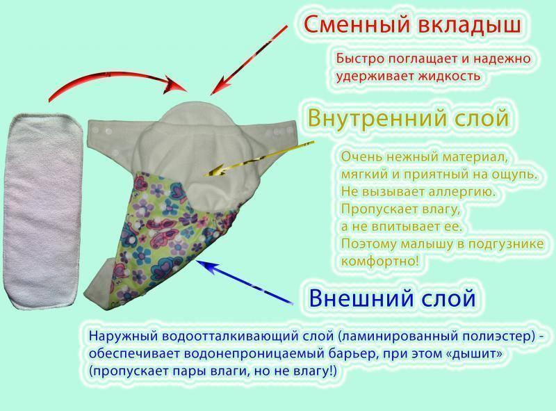 Многоразовые подгузники из марли и других натуральных тканей: какие бывают и как сшить самостоятельно