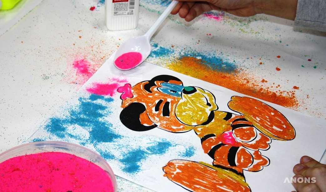Конспект занятия «картины из цветного песка» (старшая группа). воспитателям детских садов, школьным учителям и педагогам - маам.ру