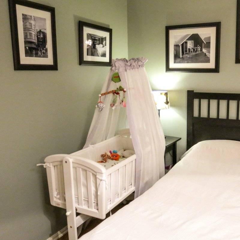 Спальня с детской кроваткой — фото примеры и рекомендации оформления