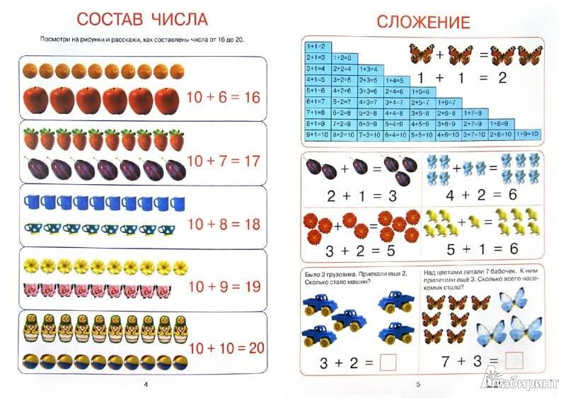 Состав числа до 10 - математика для детей мама7я