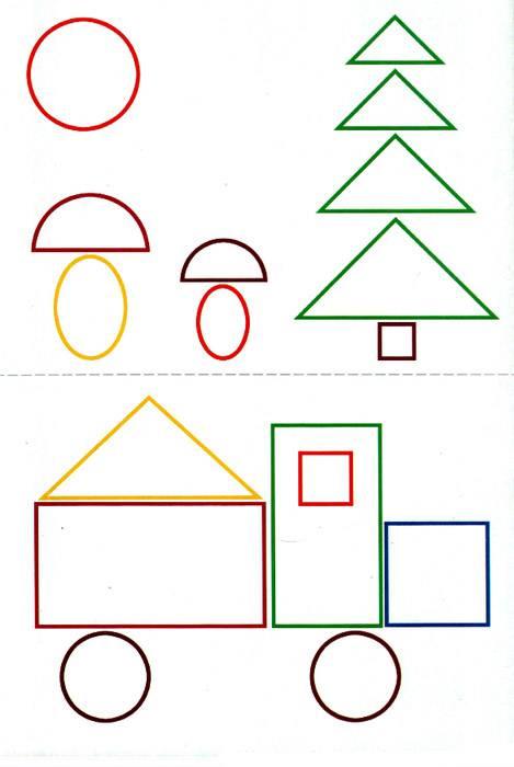 Конспект индивидуального занятия по фэмп у ребёнка 4–5 лет на тему «геометрические фигуры». воспитателям детских садов, школьным учителям и педагогам - маам.ру