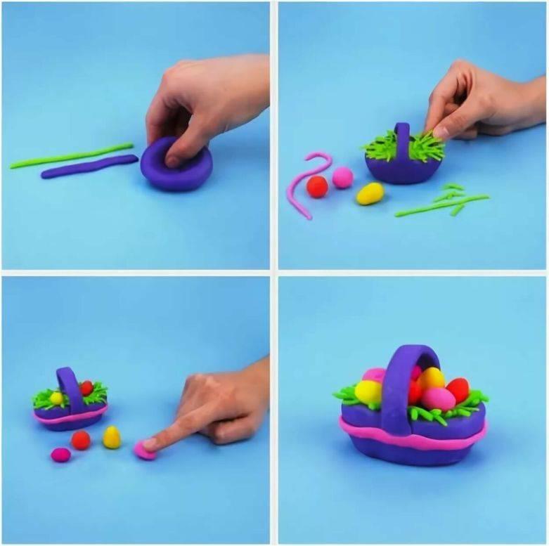 Лепка для детей 2— 3 лет. простые поделки из пластилина. часть 1
