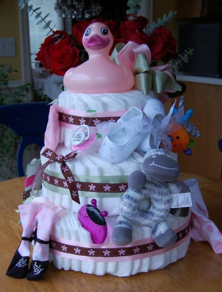 Торт из памперсов своими руками пошагово с фото: мастер-класс по изготовлению практичного подарка для малыша