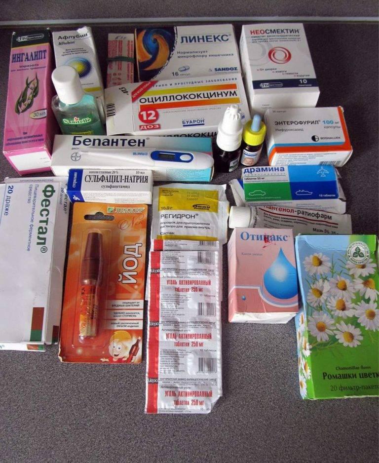 Собираем аптечку в путешествие с ребенком
