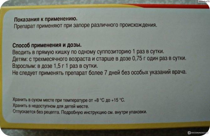 Глицериновые свечи для новорожденных и детей от года: инструкция по применению, дозировка