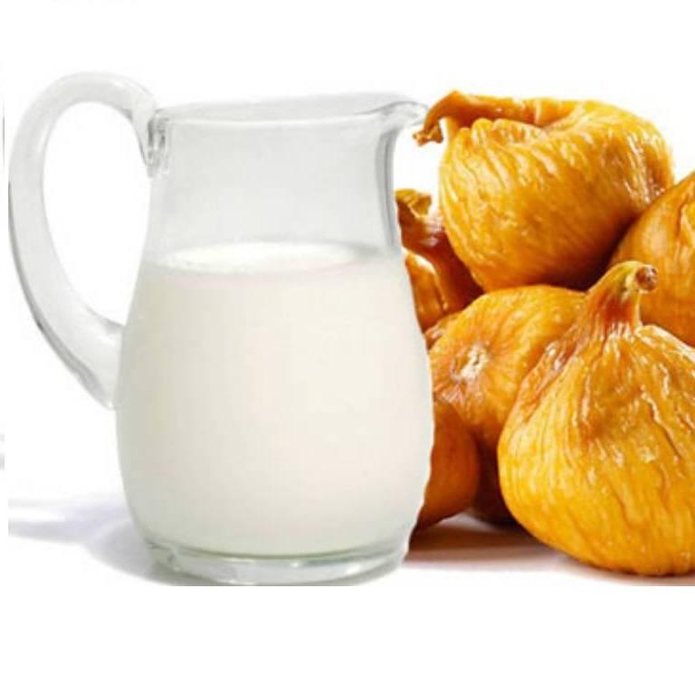 Инжир с молоком от кашля: рецепты приготовления, как приготовить, сколько варить, правила лечения, отзывы