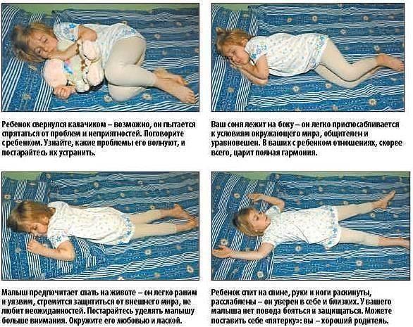 Как должен спать новорожденный в кроватке, позы для сна