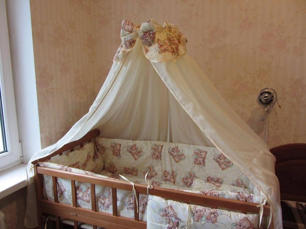 Выкройка балдахина для детской кроватки