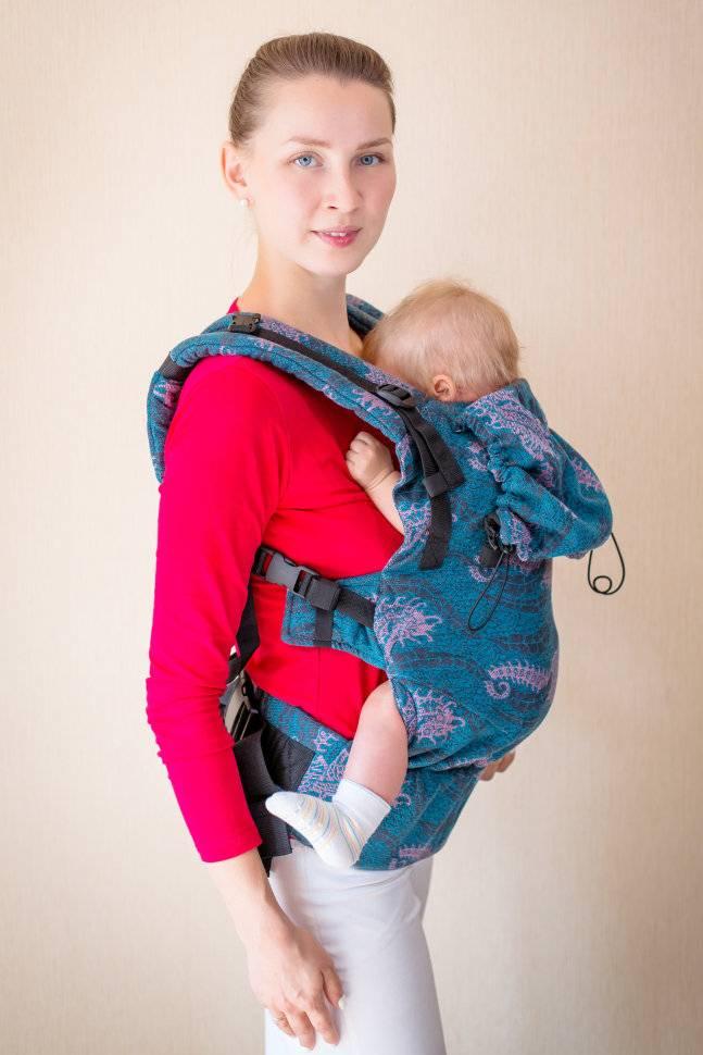 Кенгуру для новорожденных от 0 до 6 месяцев: фото сумки-рюкзака, как одевать?