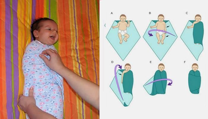 Как правильно пеленать новорожденного ребенка: видео и пошаговые фото