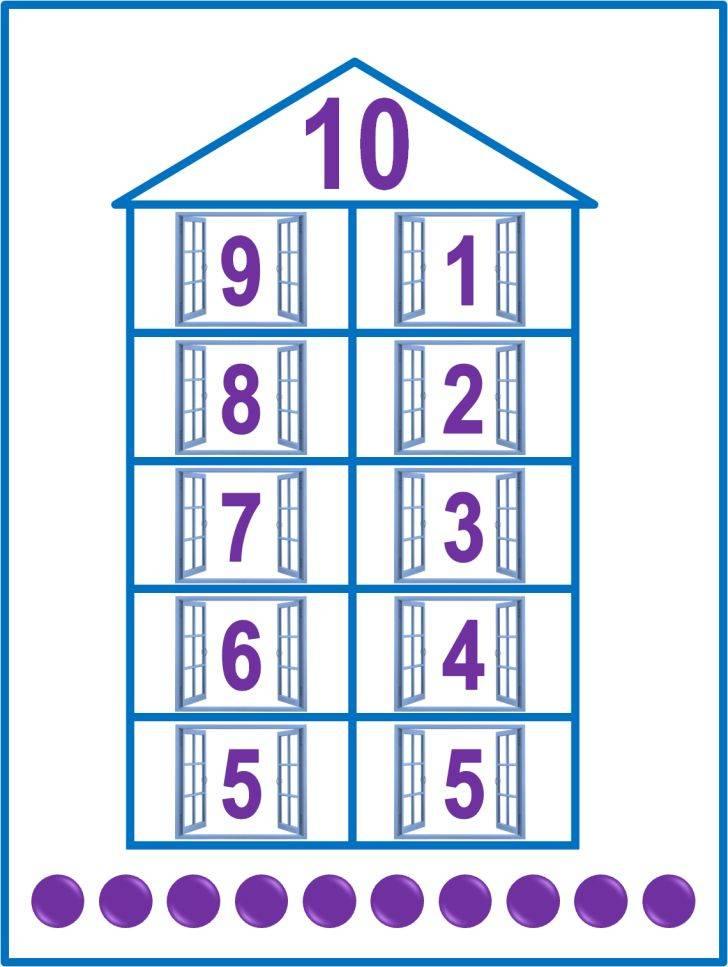 Состав числа до 20 - математика для детей мама7я %