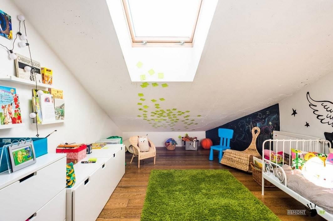 Детская на мансарде – создаем уютную комнату прямо под облаками