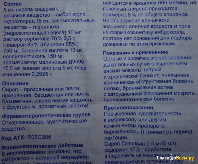 Лазолван сироп 15 мг/5 мл 100 мл   (boehringer ingelheim [бёрингер ингельхайм]) - купить в аптеке по цене 215 руб., инструкция по применению, описание, аналоги