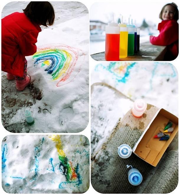 Чем заняться на прогулке с ребенком зимой? | творчество с детьми