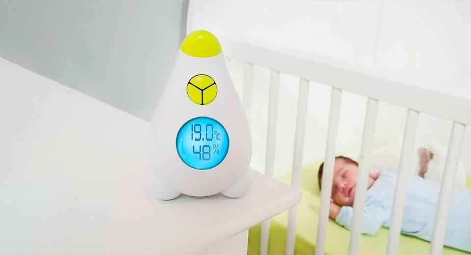 Оптимальная влажность и температура в комнате новорожденного