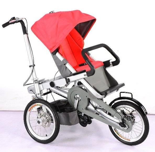 Велосипед-коляска для ребенка (45 фото): выбор детских трехколесных велоколясок от 1 года, обзор складных прогулочных моделей