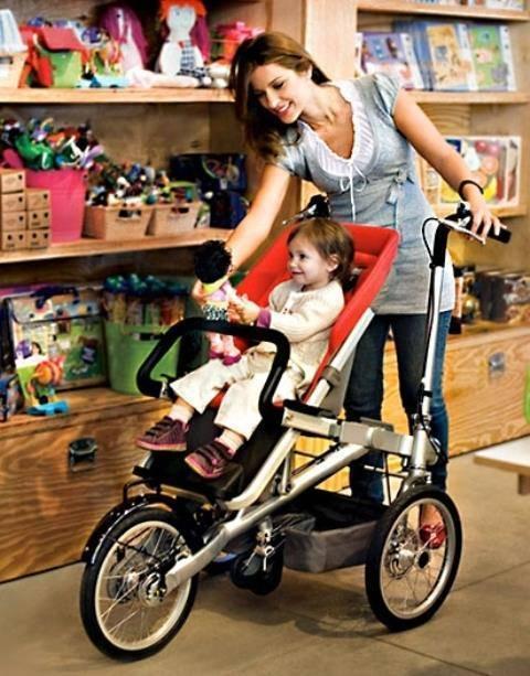 Трёхколёсный велосипед «2 в 1» (взрослый с детской люлькой)