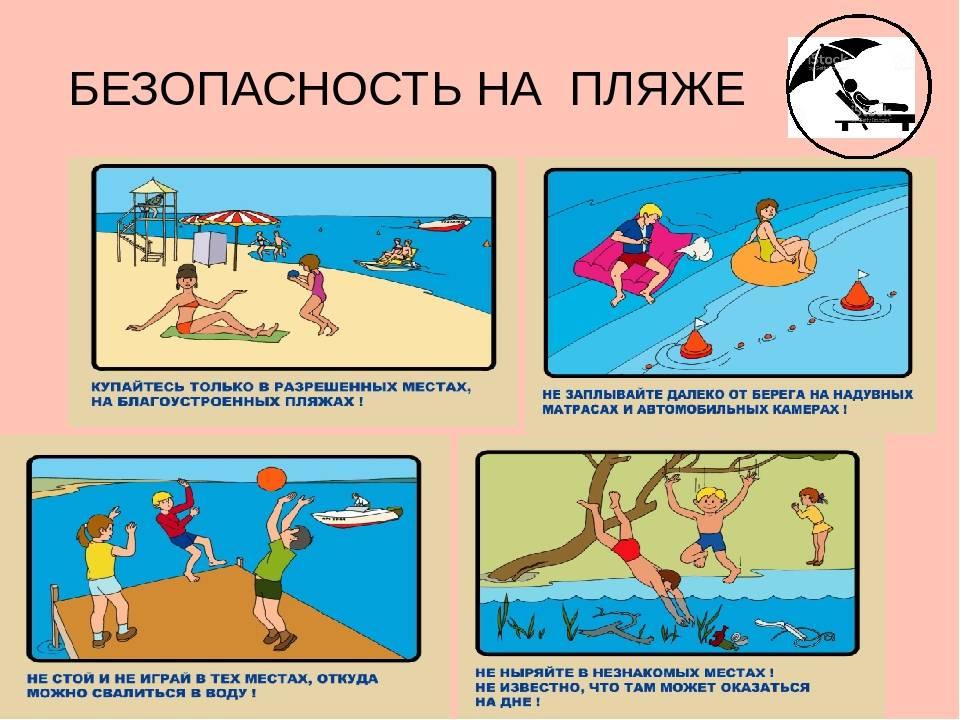 Дети на пляже, помним о безопасности!