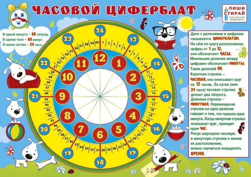 Как научить ребенка определять время по часам со стрелками: часы и тренажер для обучения времени