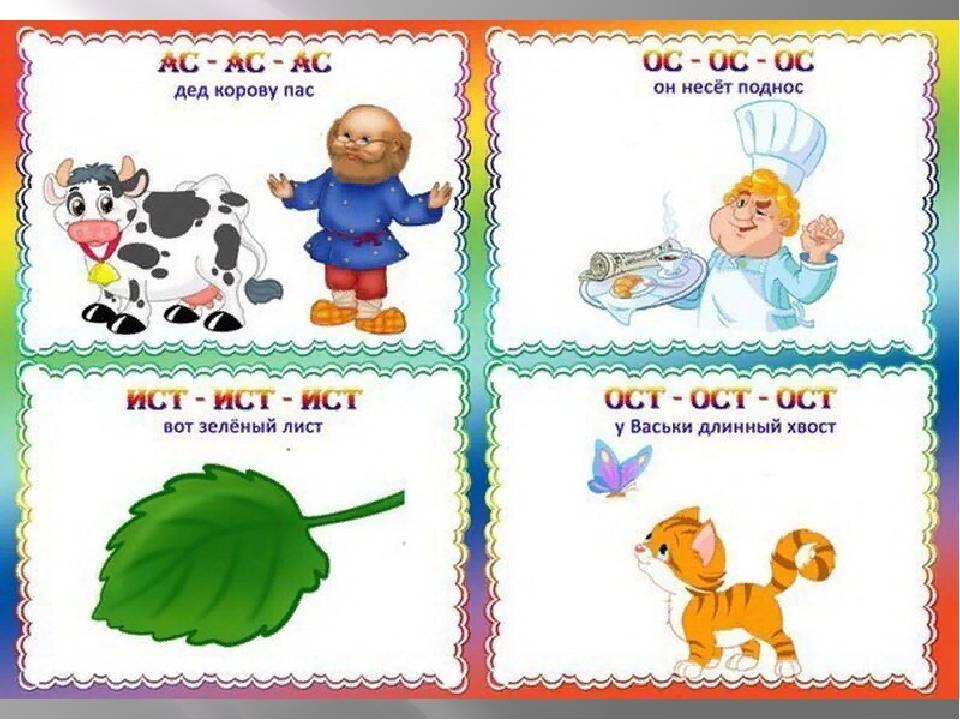 Простые скороговорки для развития речи и дикции детей 3, 4, 5, 6, 7 и 8 лет