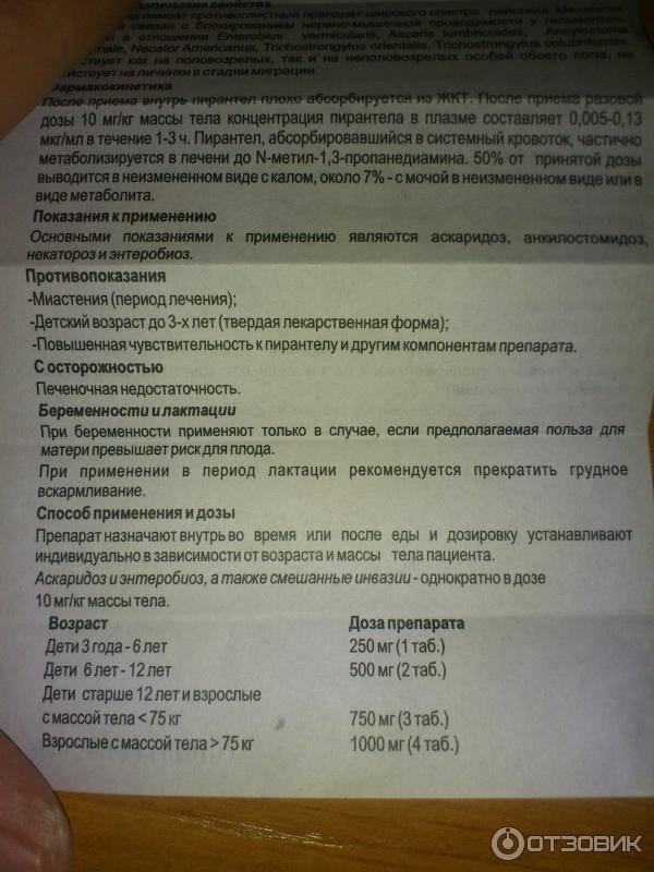 Вермокс в новокузнецке - инструкция по применению, описание, отзывы пациентов и врачей, аналоги