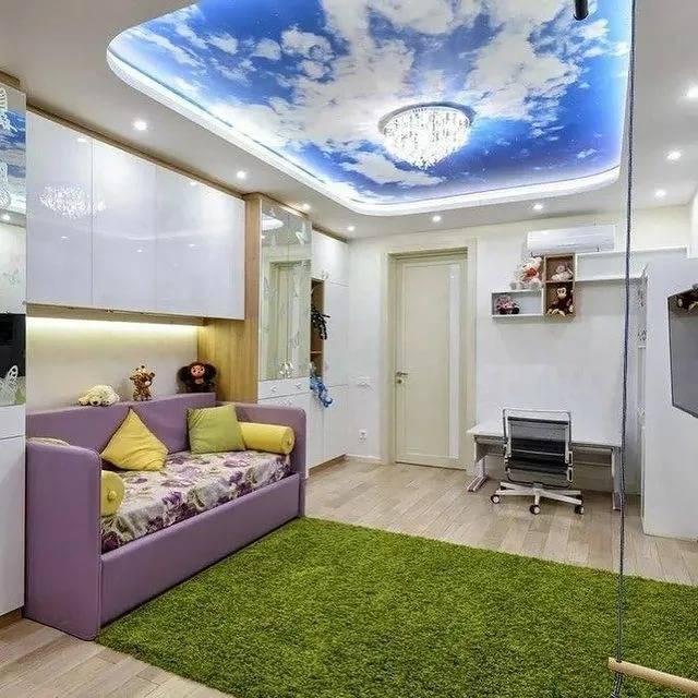 Двухуровневый потолок из гипсокартона (92 фото): двухъярусные конструкции для спальни и коридора