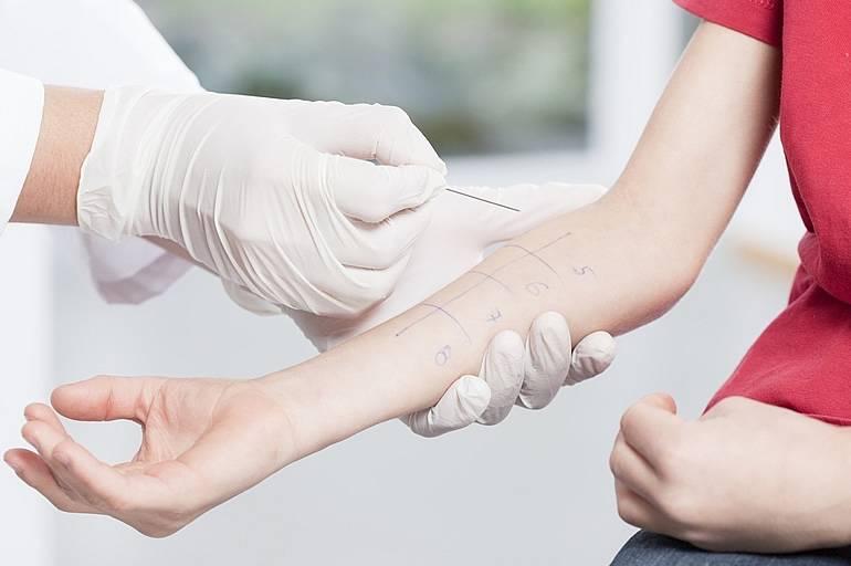 Кожные аллергопробы для детей в москве