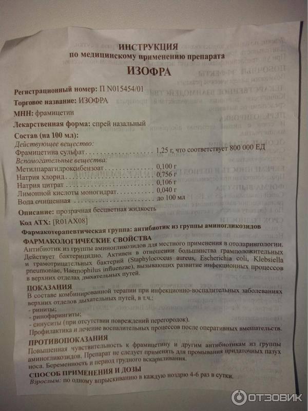 Изофра - инструкция по применению, описание, отзывы пациентов и врачей, аналоги