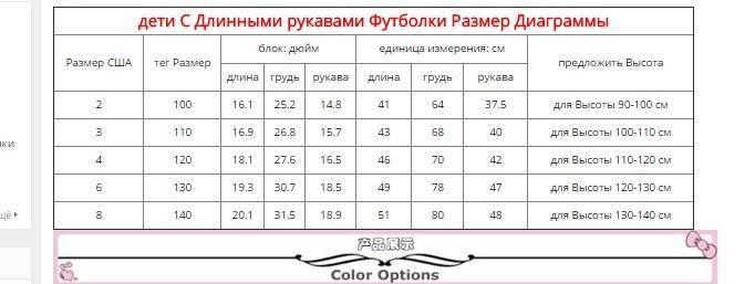 Таблица размеров одежды из китая - база знаний
