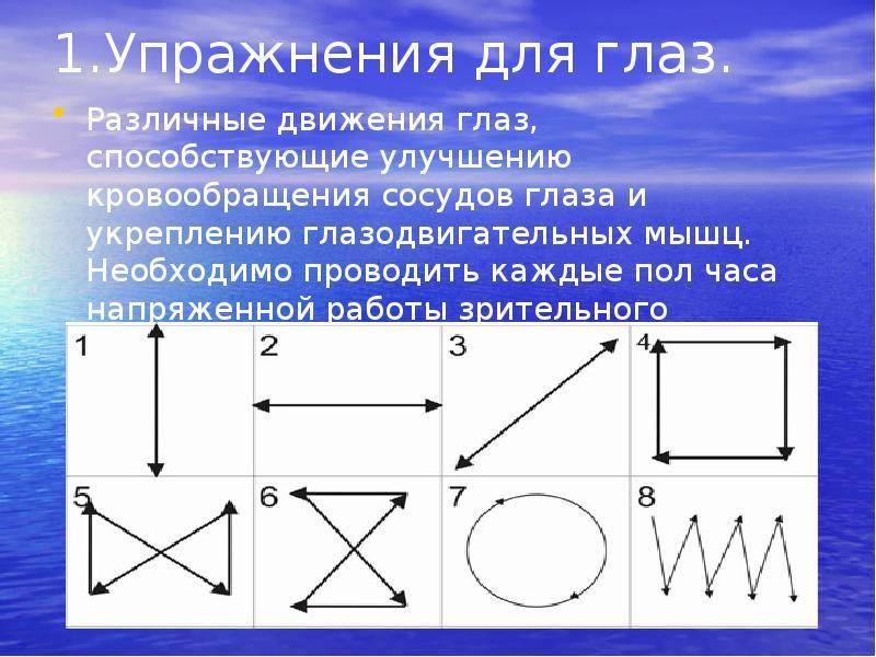 Упражнения для коррекции близорукости - энциклопедия ochkov.net