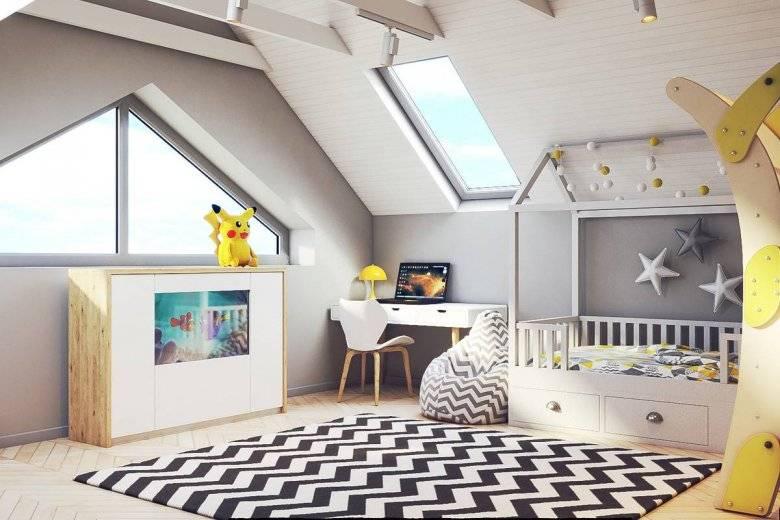 Детская мансардная комната | 24 идеи с фото дизайна детских